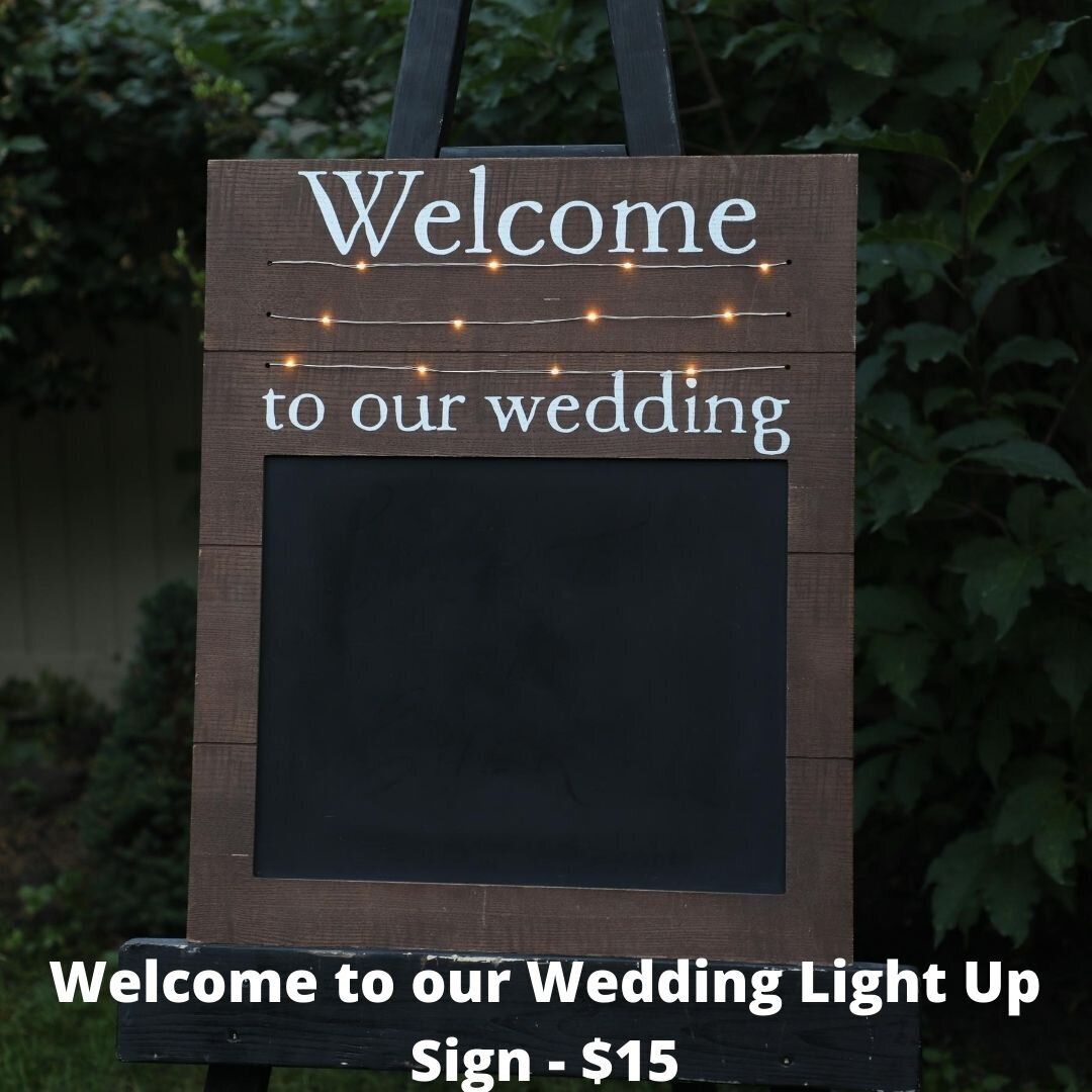 welcome to our wedding light up