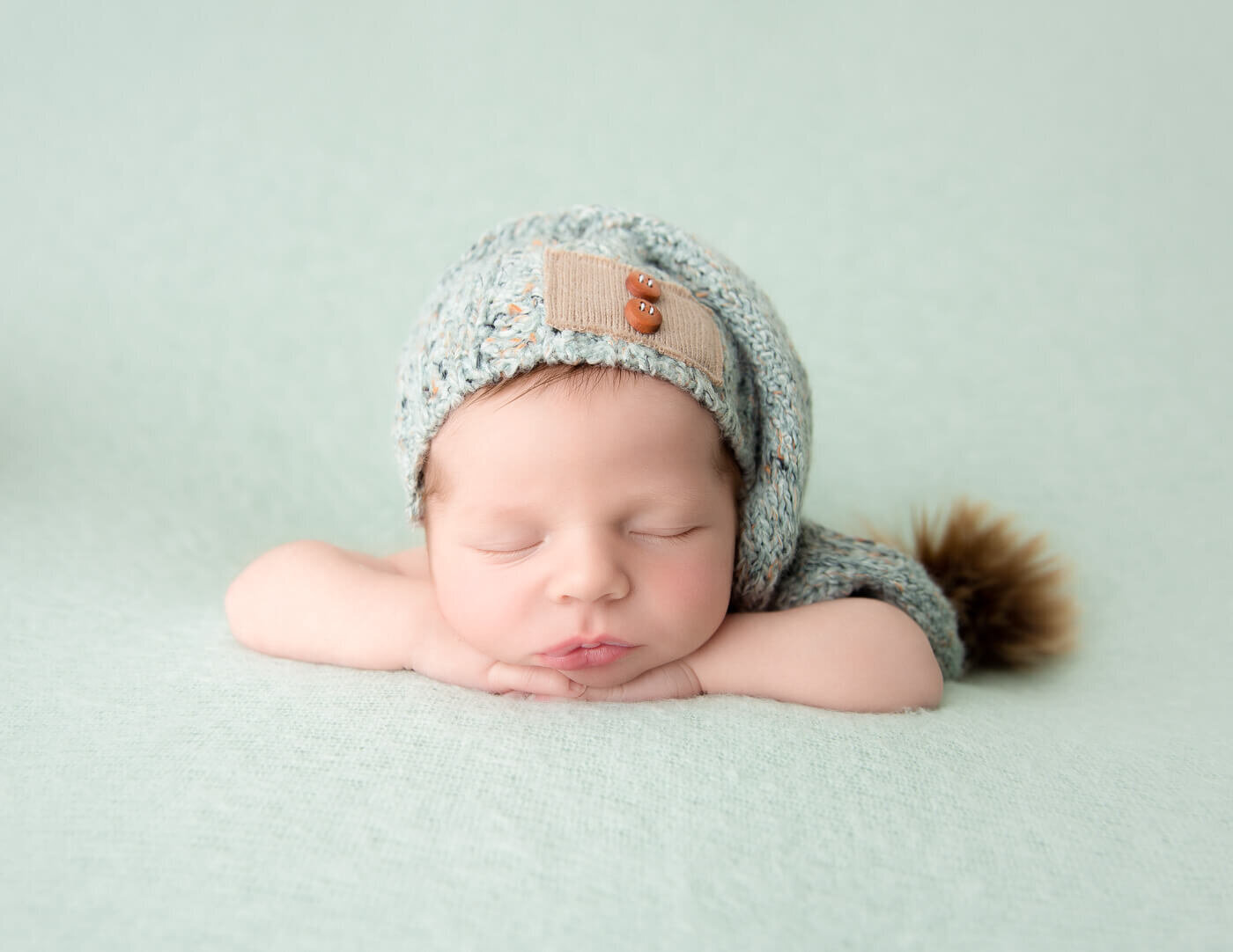 Sweet baby boy posed at our in-home studio located in Rochester, NY.