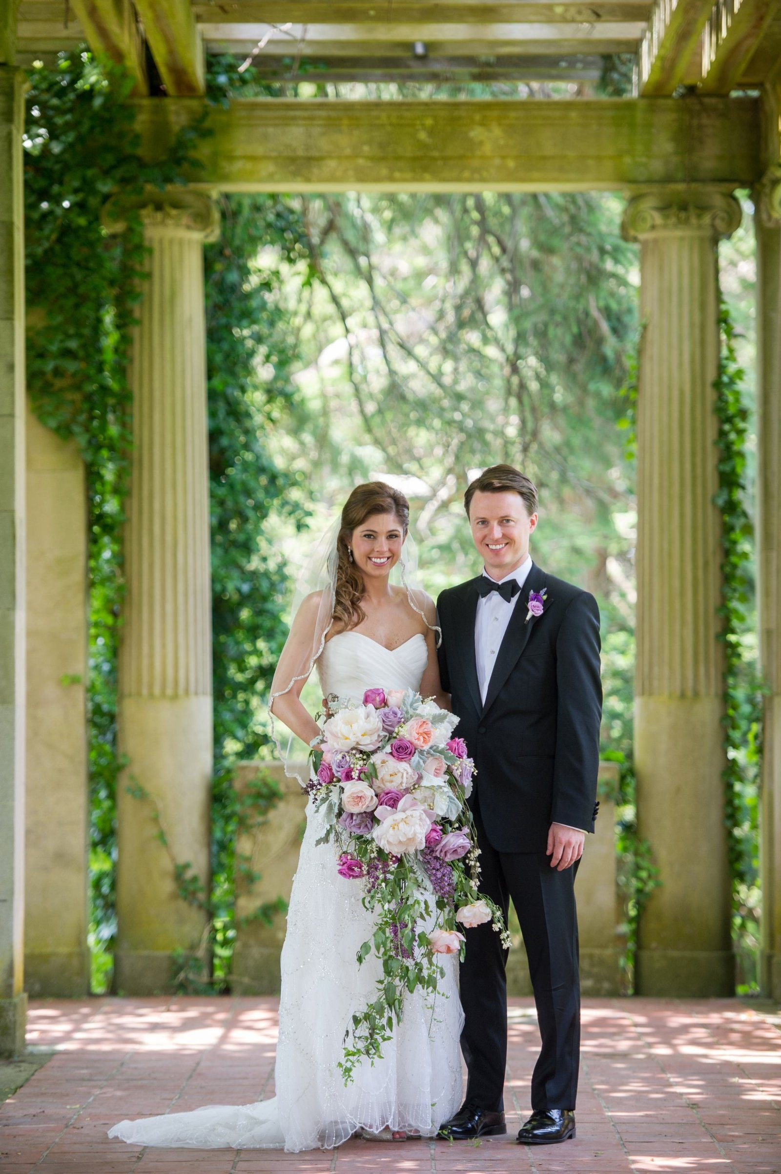 Gatsby themed wedding in purple and blush at The Branford House in Groton, CT