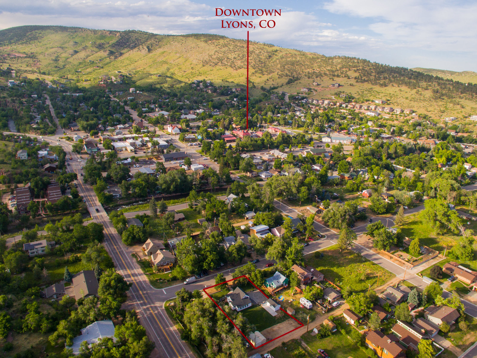 Lyons Colorado Aerial Photo Commercial