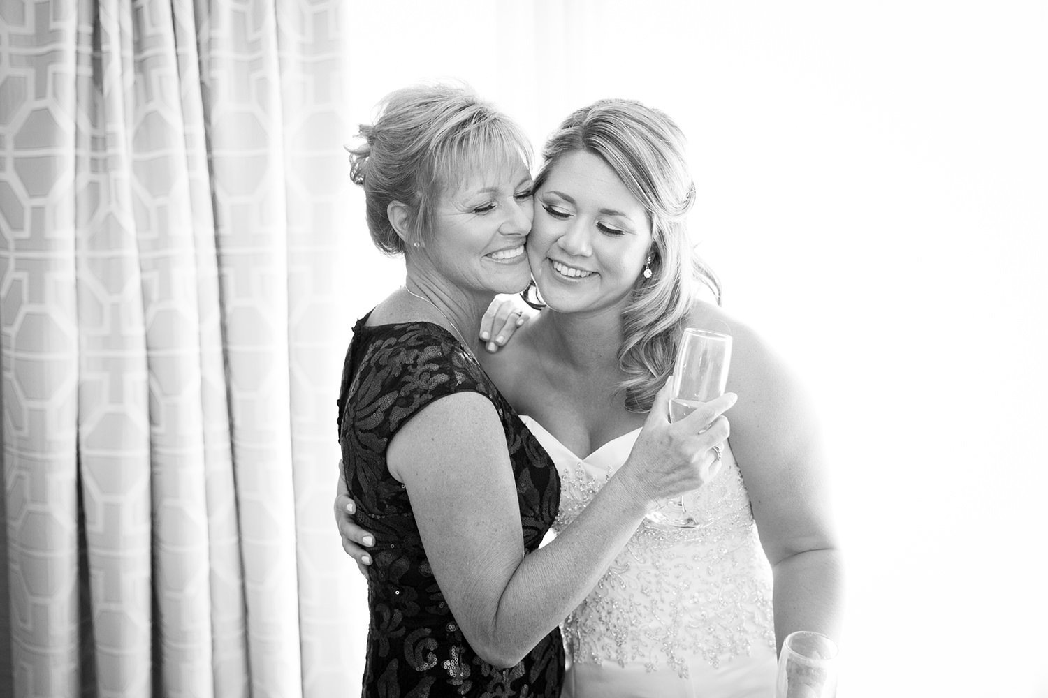 mom and bride special moment