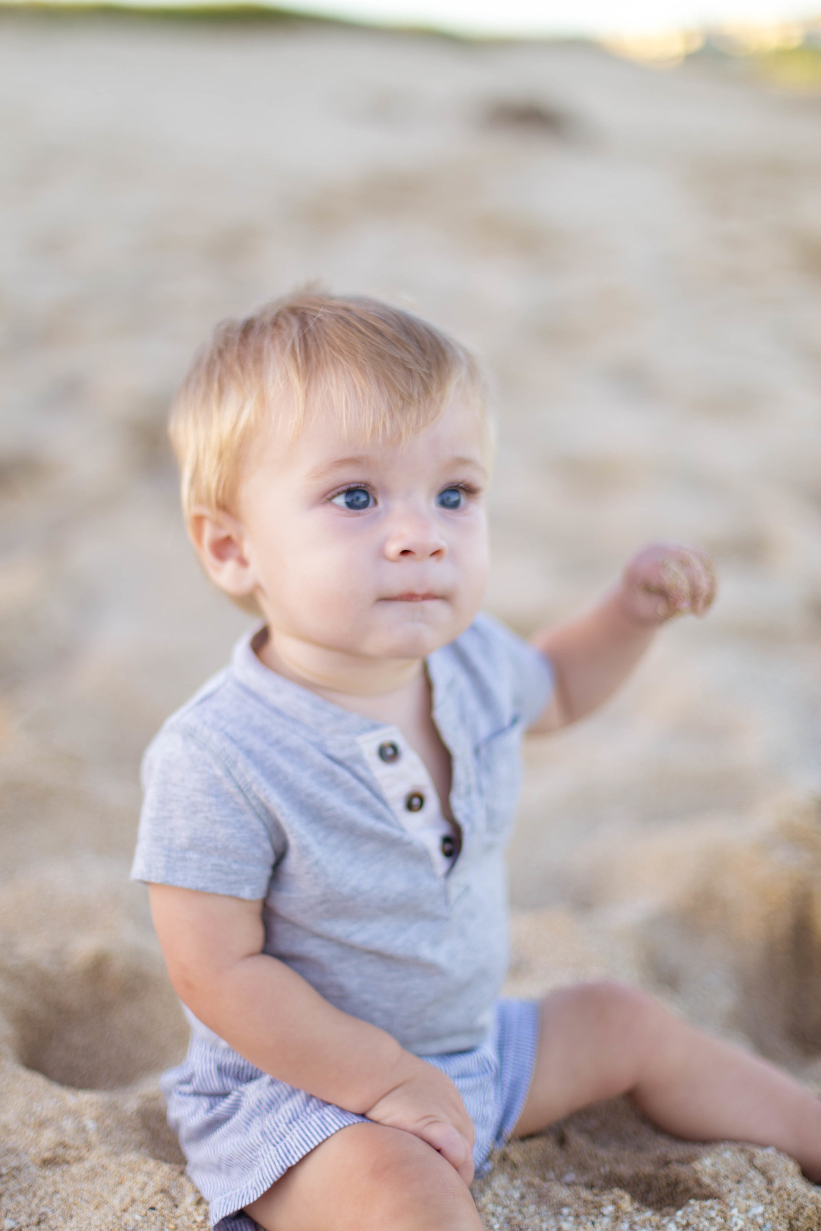 Oahu, Hawaii Lifestyle Photographer - Lifestyle Photography - Brooke Flanagan Photography - Little boy in the sand