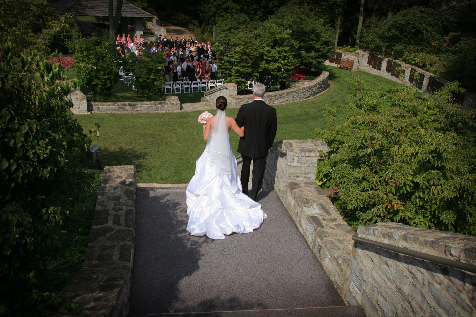 Beautiful Upscale, Outdoor Wedding Ceremony and Receptions with Complete Planning and Design in Columbus Ohio