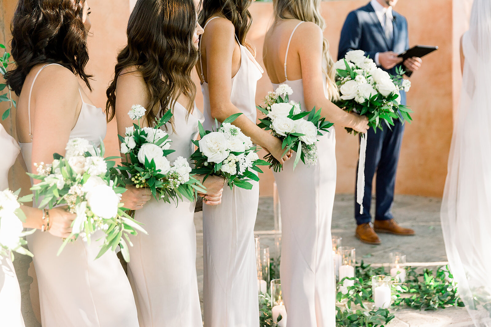 scottsdale-florists-taupe-bridesmaid-dresses