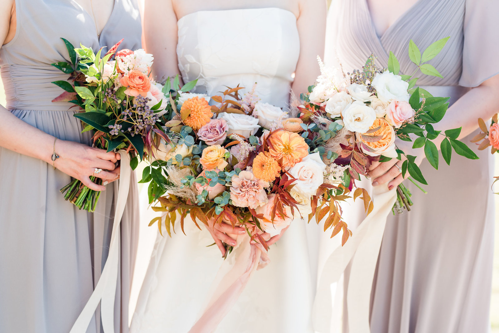 Dove Ridge Vineyard Wedding Day Florals