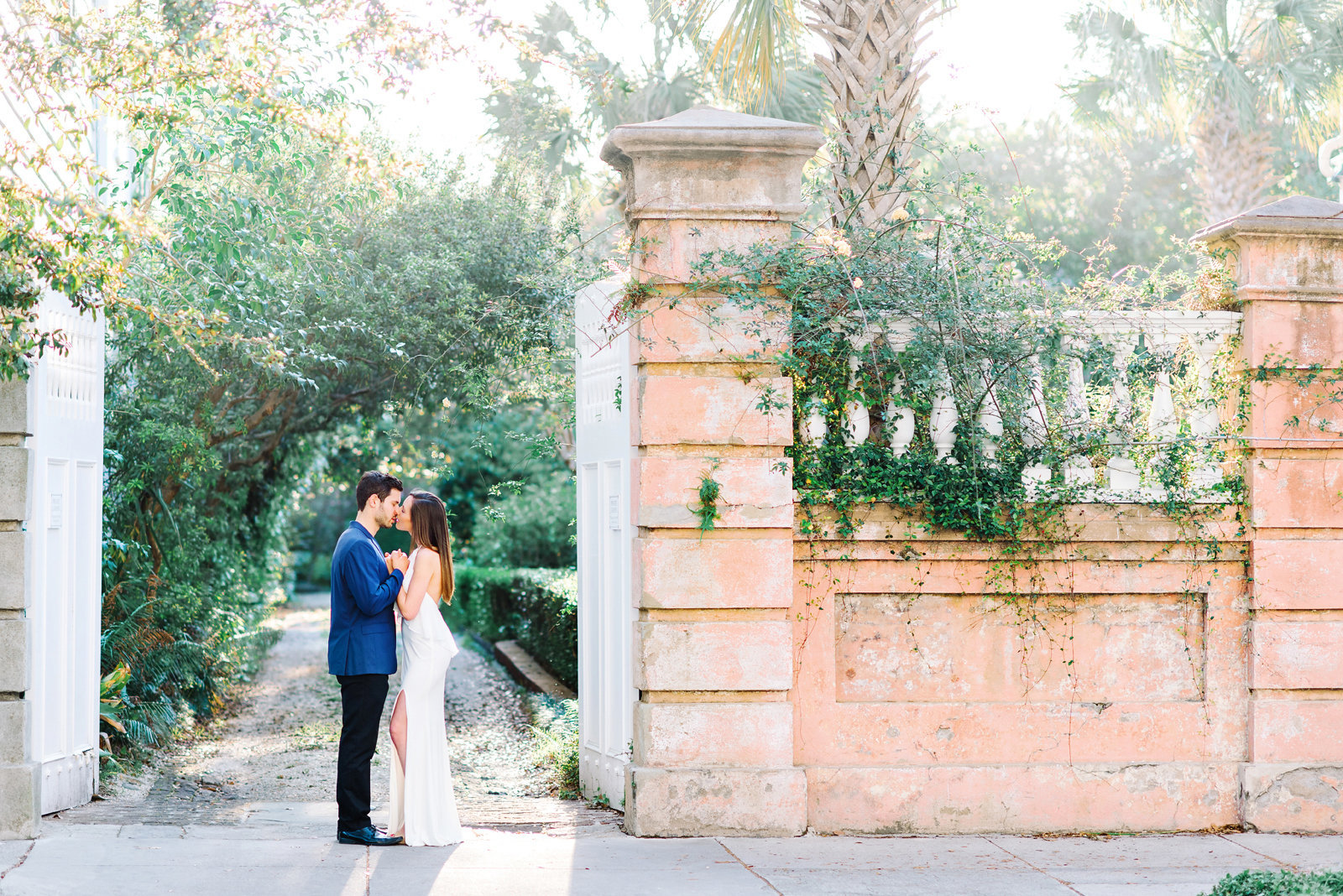 Downtown Charleston is a perfect place for engagement photography - top wedding photographers in SC