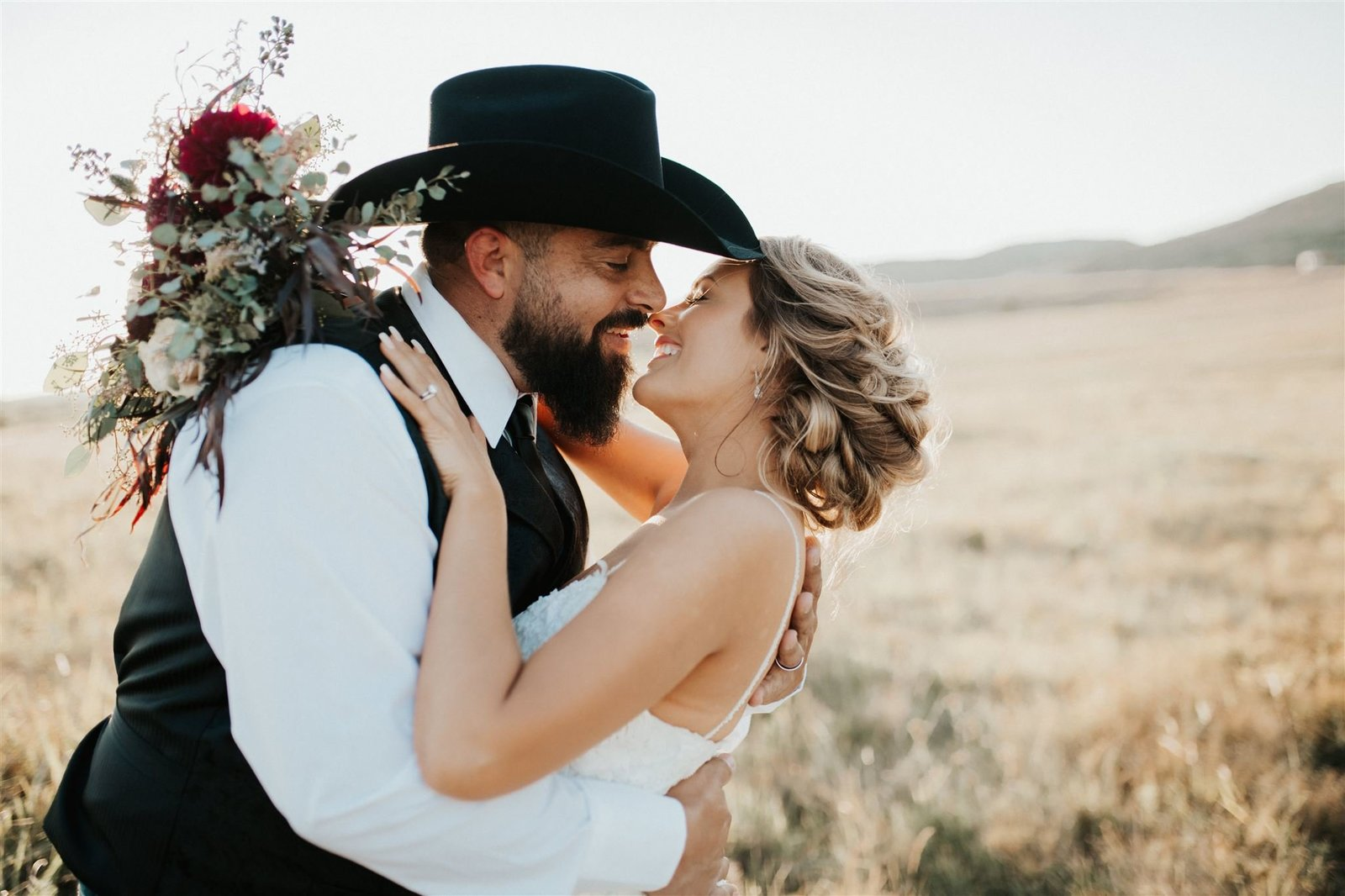 Bride and groom at their intimate Oklahoma elopement.