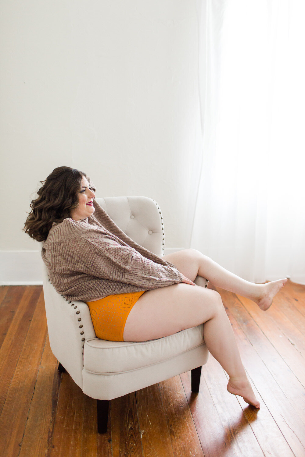 plus size boudoir photography experience