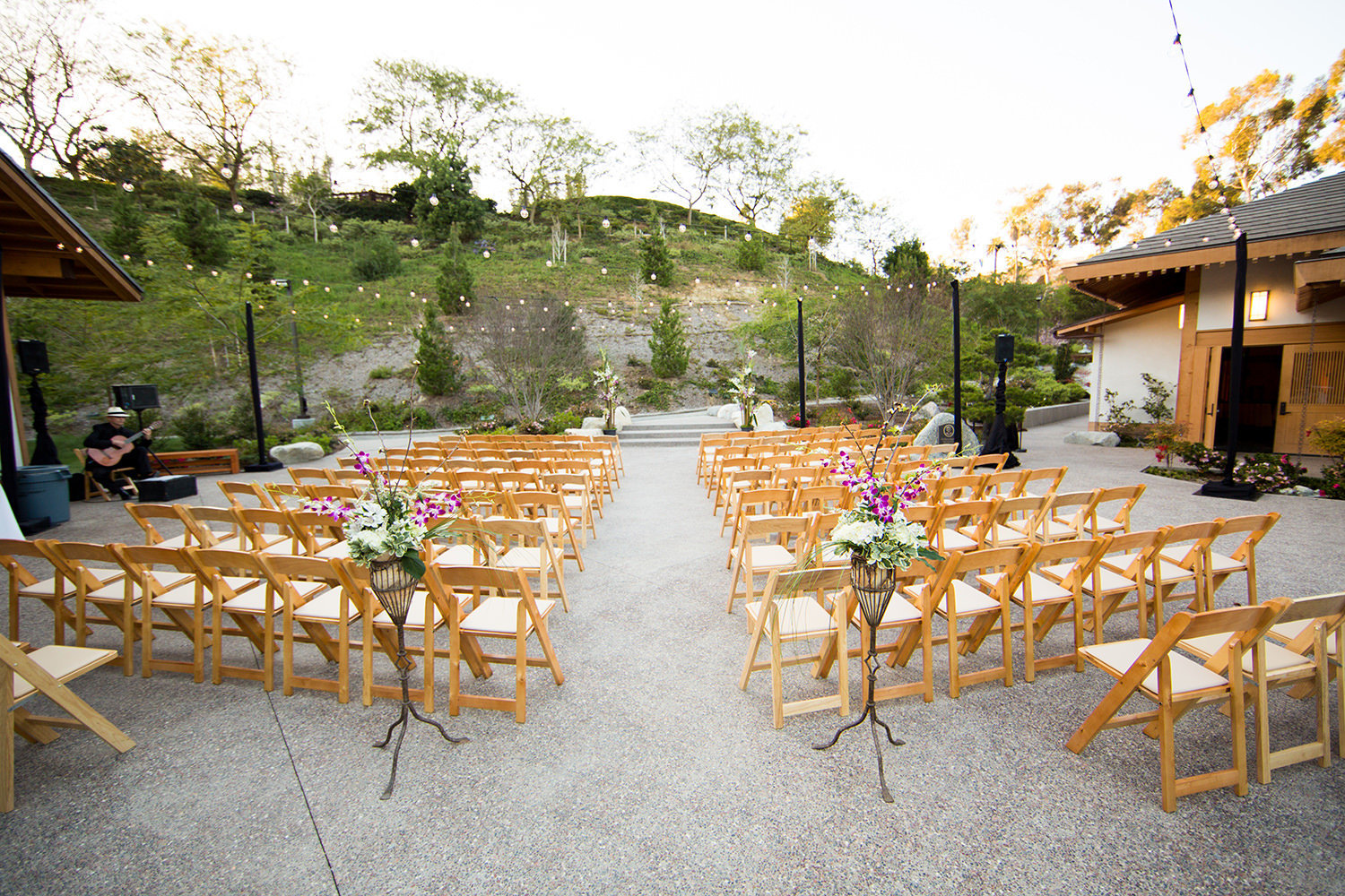 ceremony space at japanese friendship garden