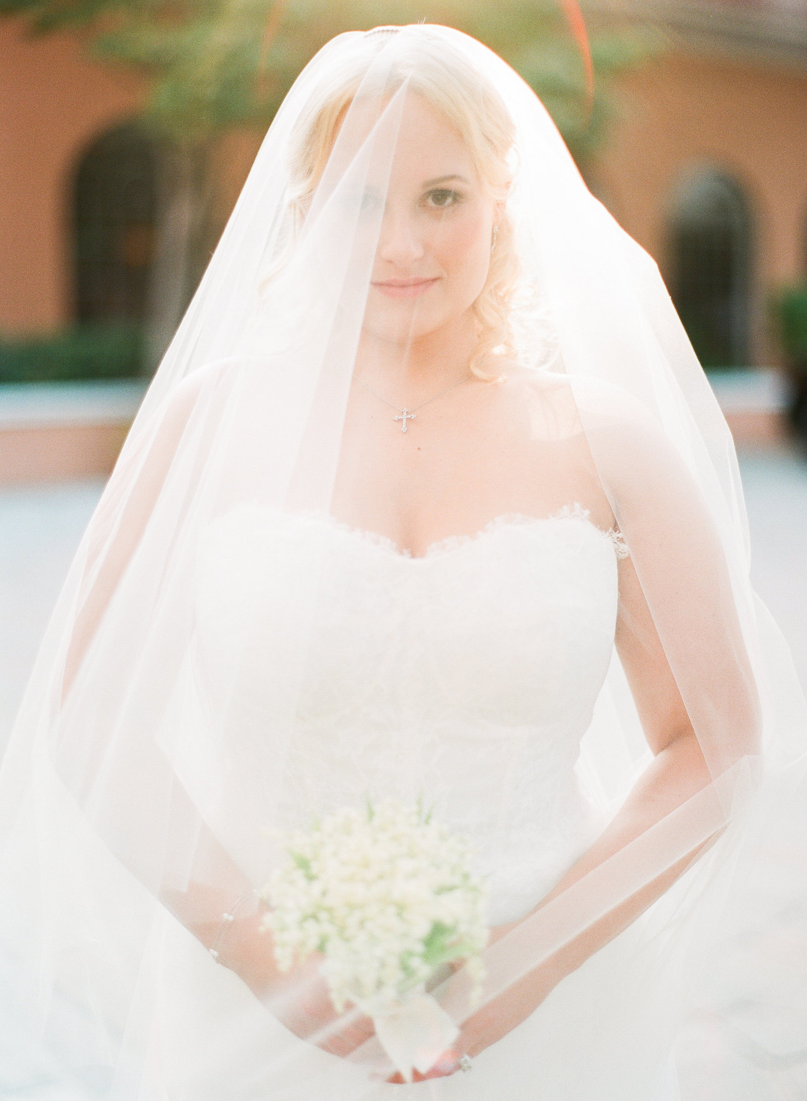 bride in wedding gown in dallas texas