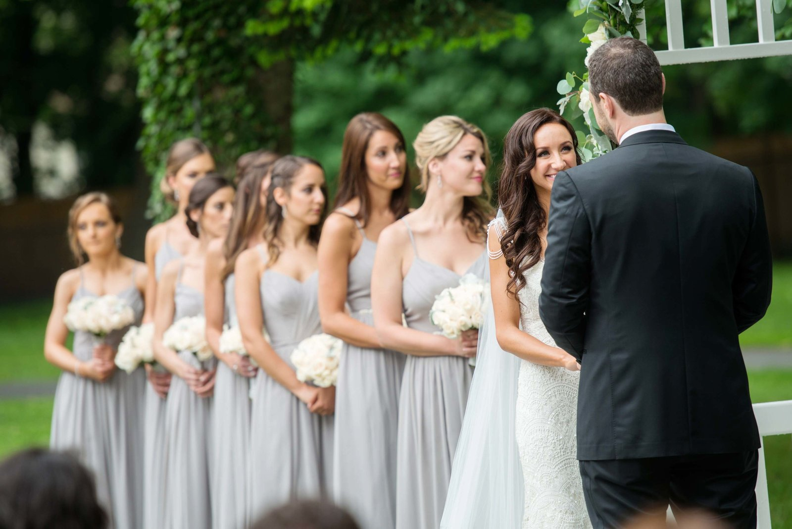 Out door wedding ceremony at Coindre Hall