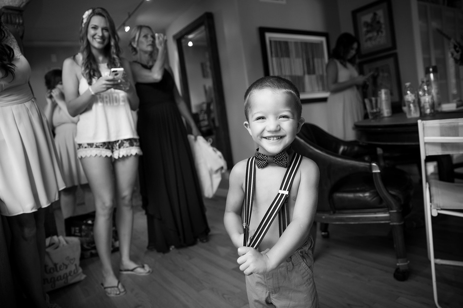 Darlington House wedding photos black and white ring bearer