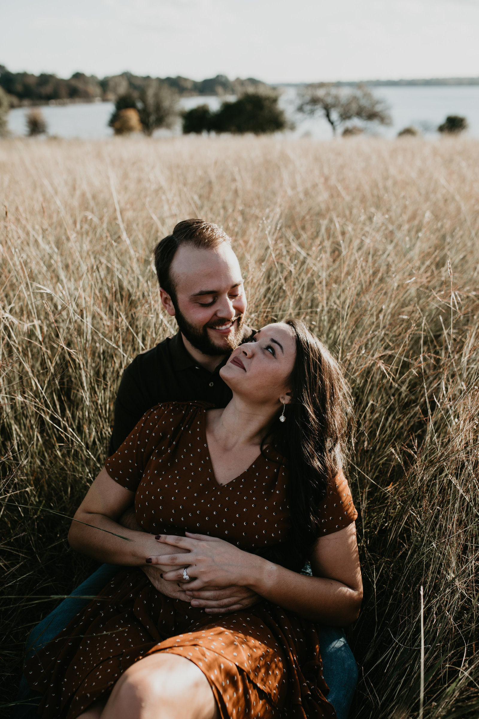 romantic white rock lake engagement session dallas texas moth and moonlite photography