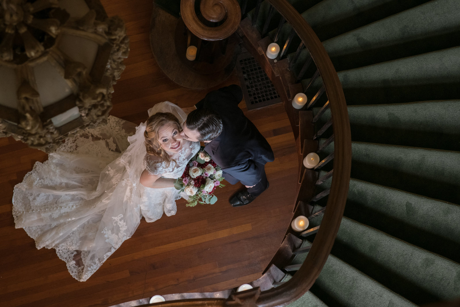 bride and groom photo at Coindre Hall