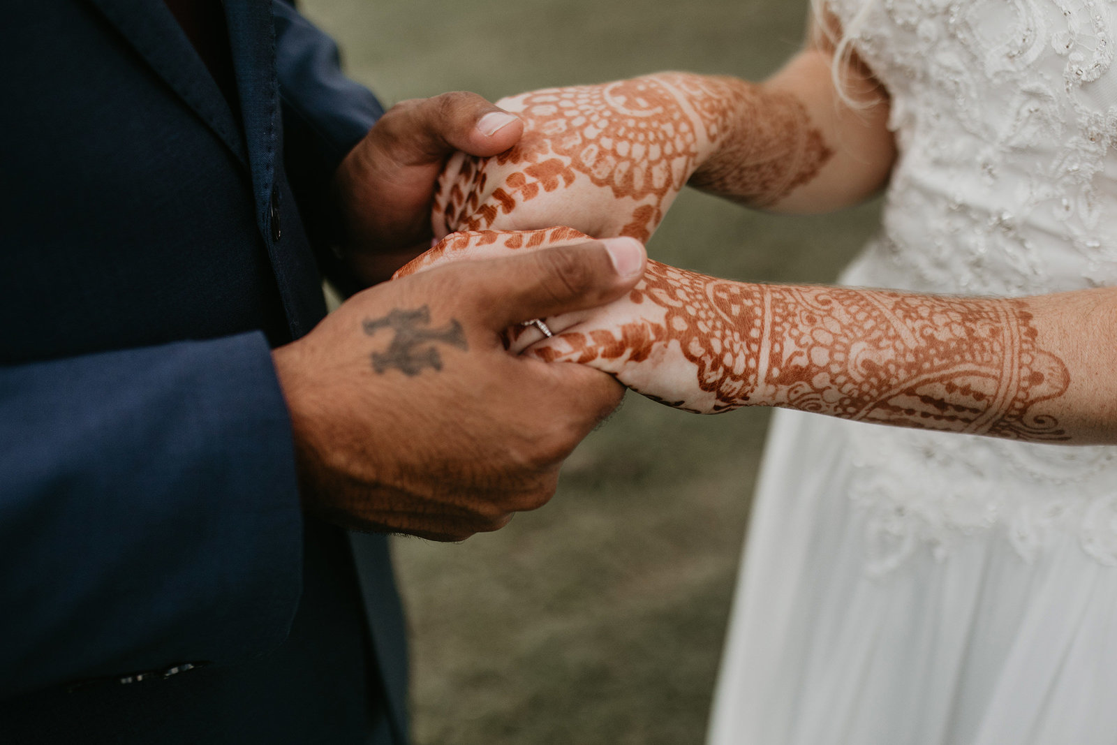 interracial couple indian american wedding with henna in dallas texas