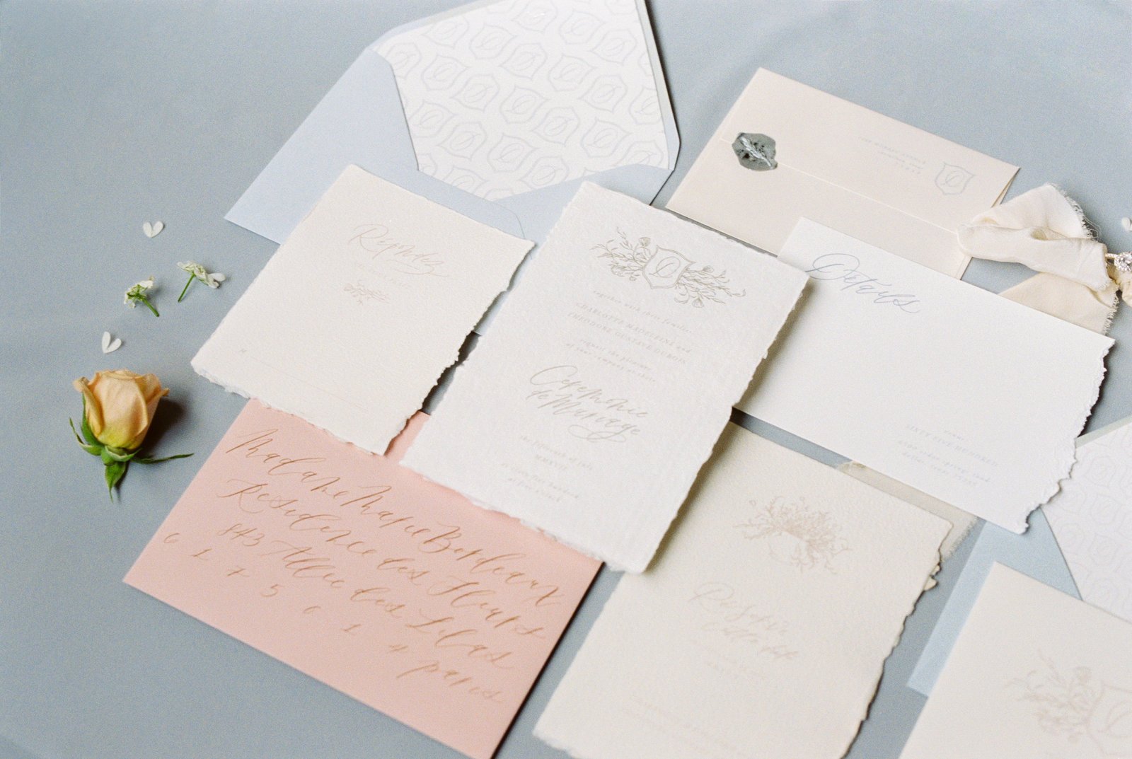 Custom Wedding Invitations // Sarah Ann Design