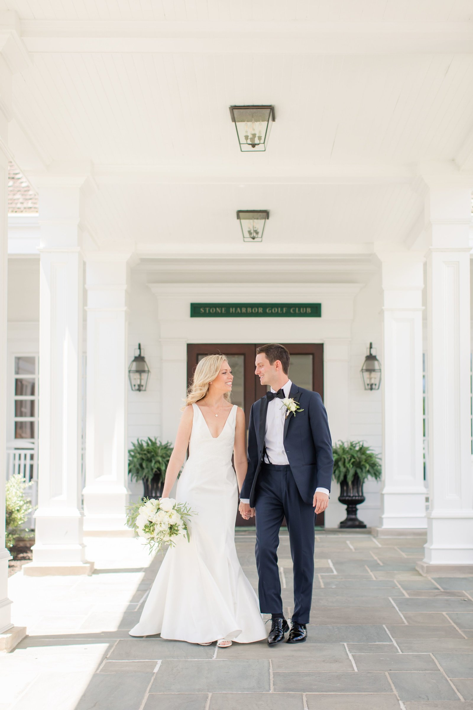 bride and groom at Stone Harbor Golf Club