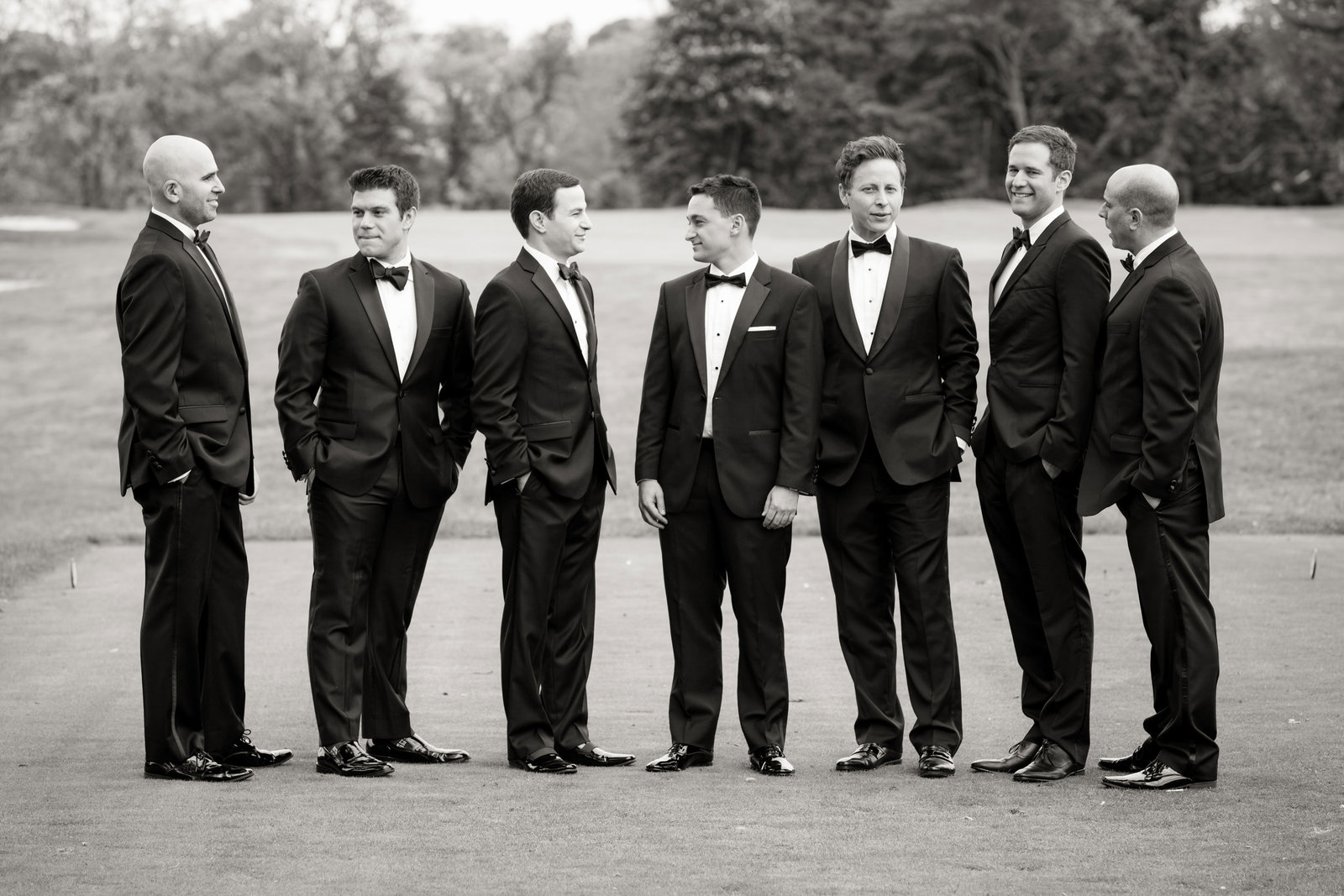 groomsmen outside Engineers Country Club