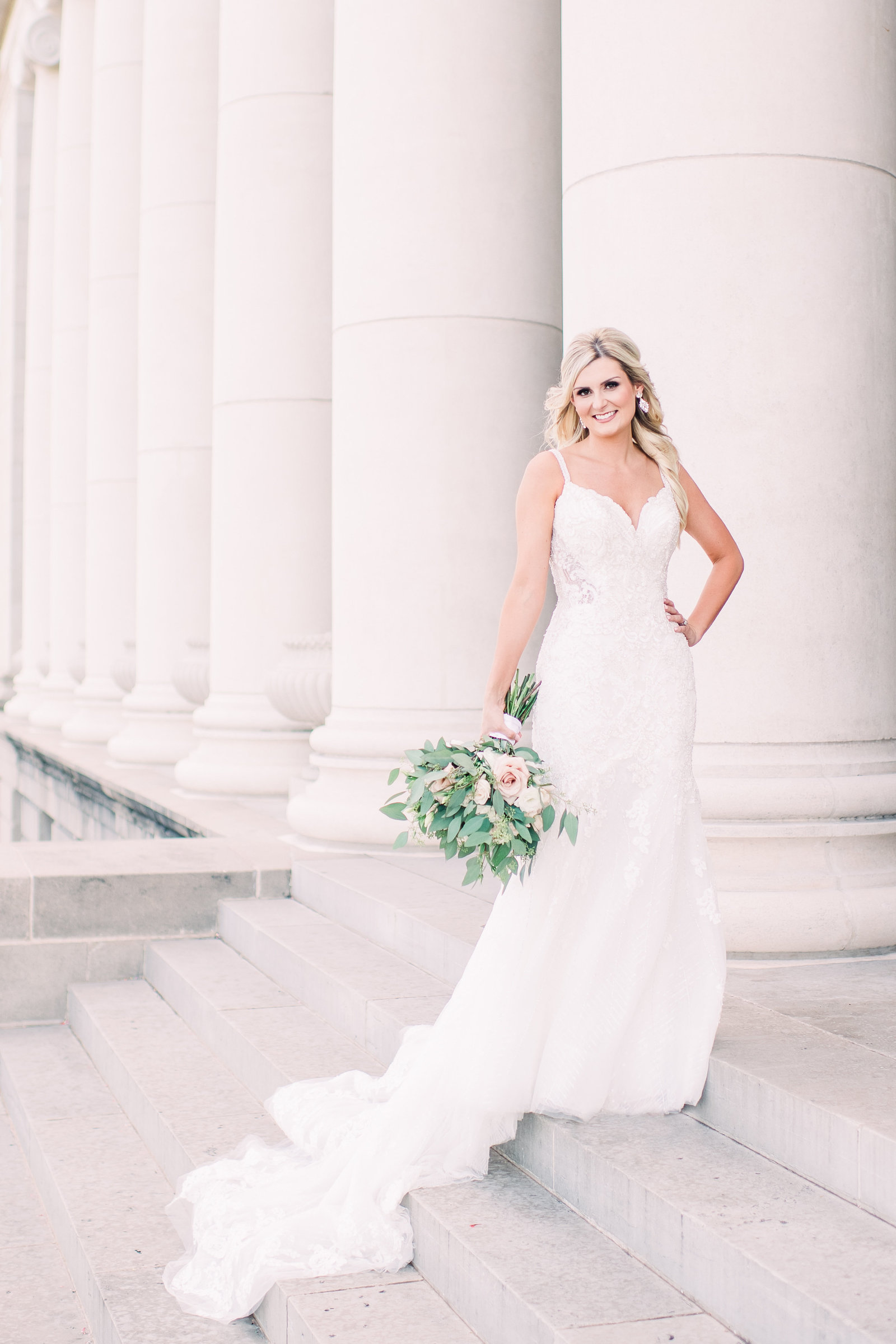 bridal portrait at Texas A&M University