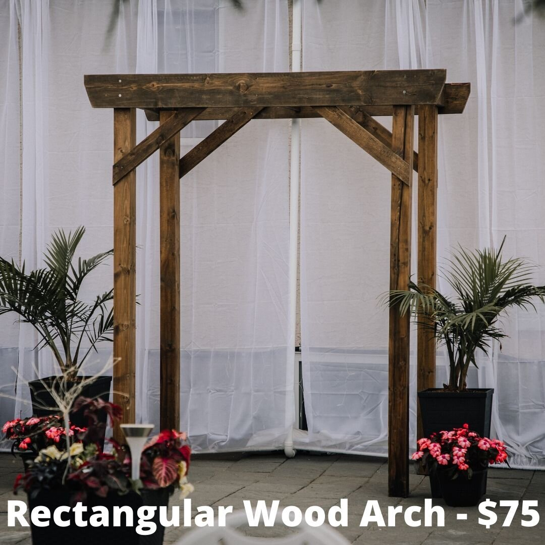 Rectangular wood arch