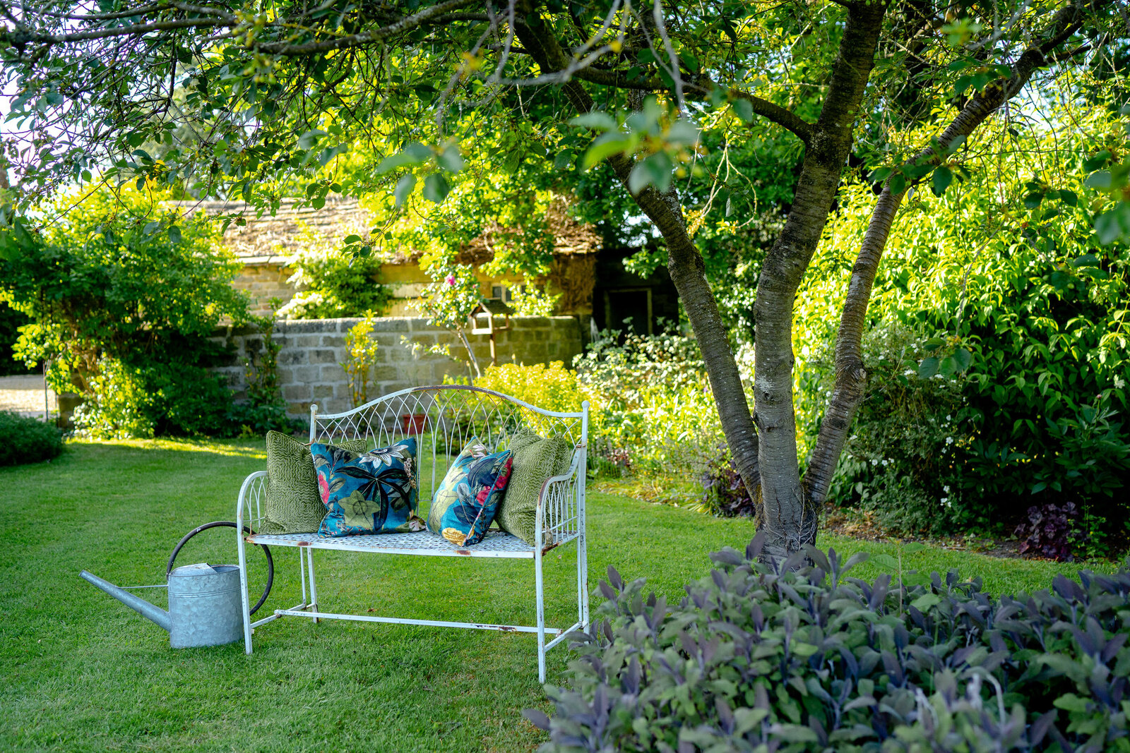 The cottage garden at Wharfedale Grange luxury wedding venue, yorkshire