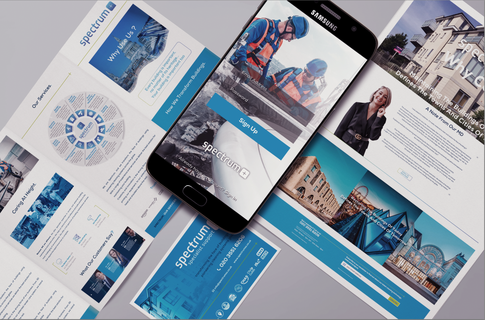 Corporate branding and leaflets designed in Worcestershire
