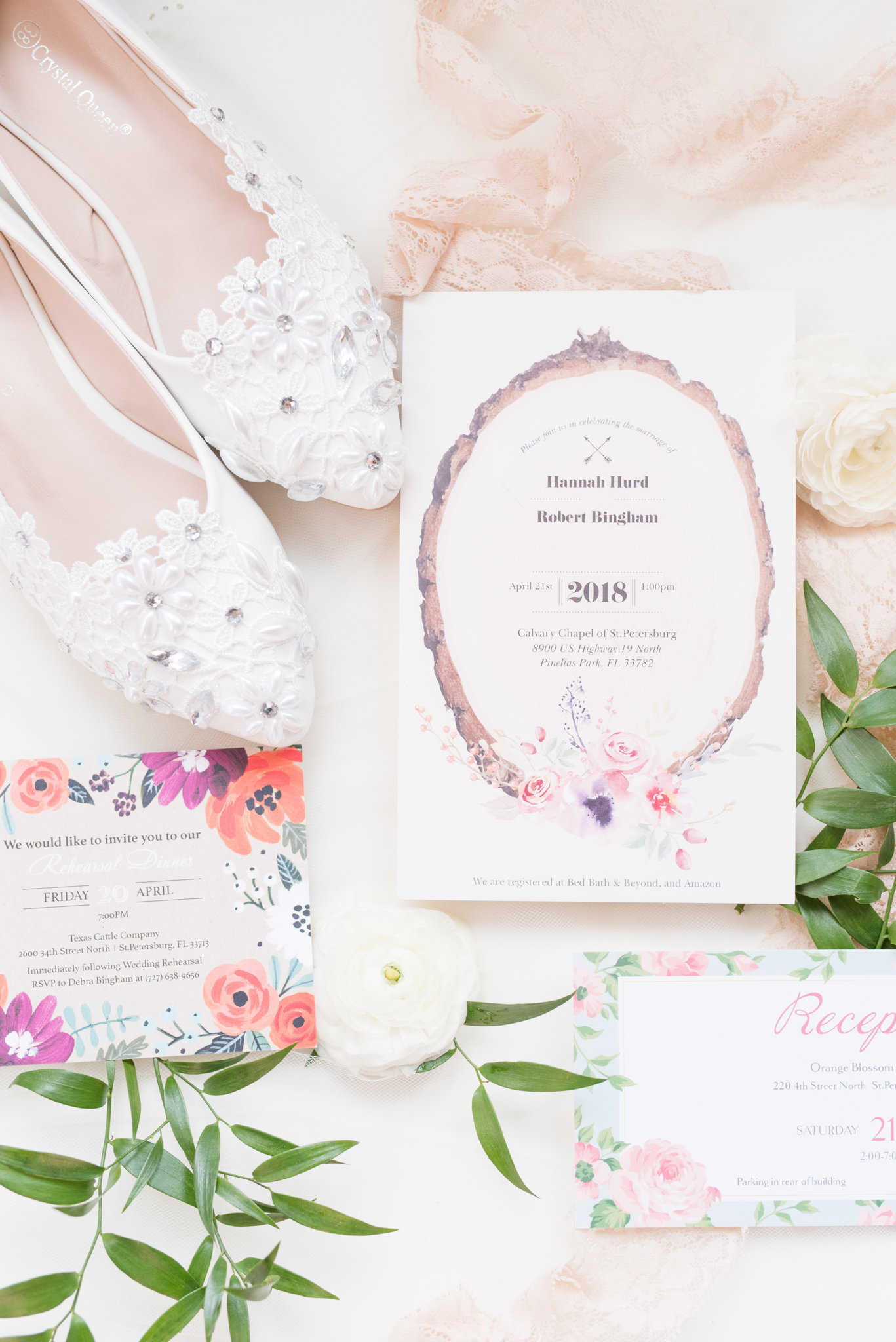 St. Petersburg Wedding Invitation Suite