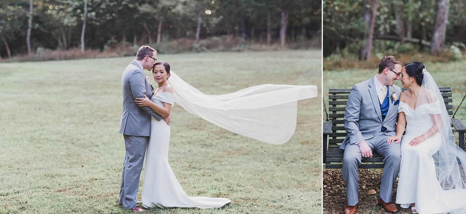 M Harris Studios_Braehead Manor_VA Wedding Photographer_bride groom outdoor portrait