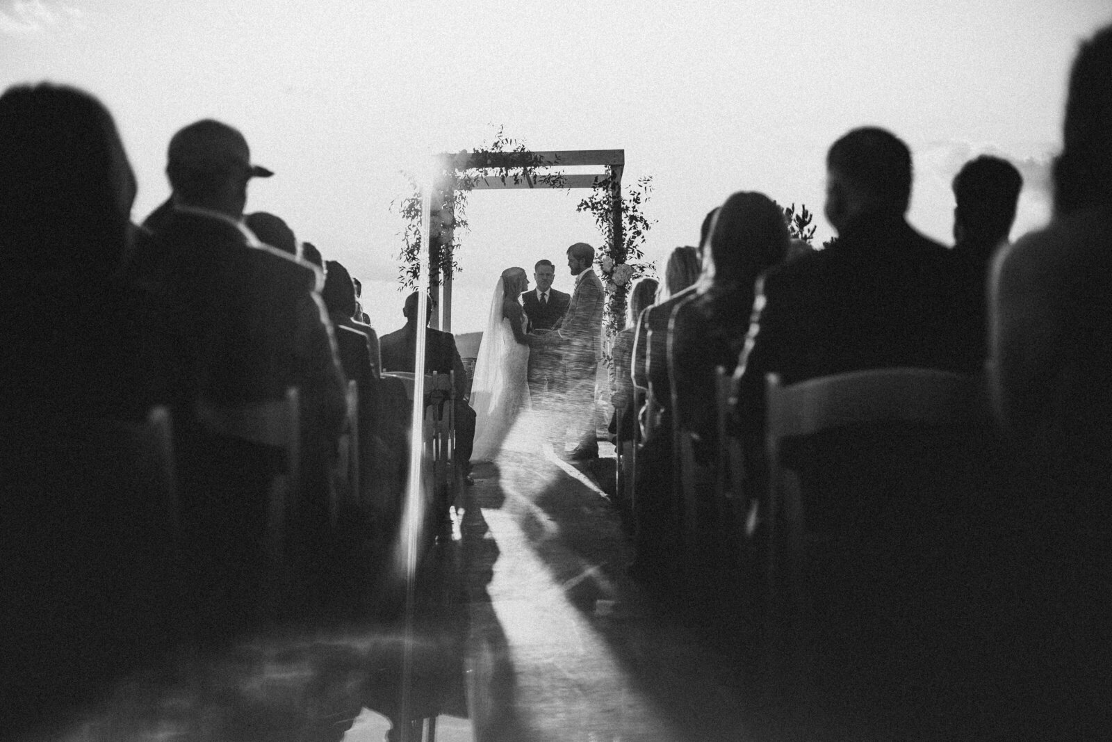 Bride and groom during their ceremony  at their Atlanta, Ga wedding