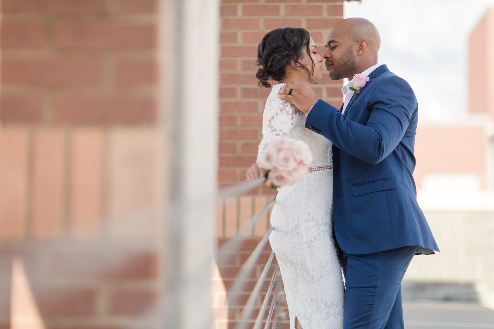 Sweet elopement downtown Fayetteville, NC