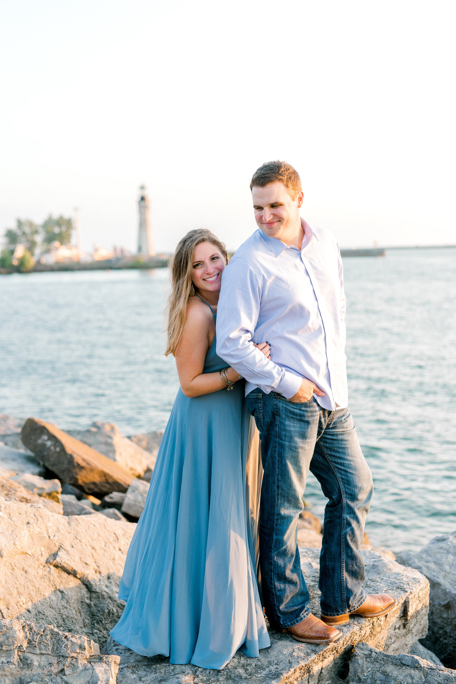 Canalside Engagement Session in Buffalo