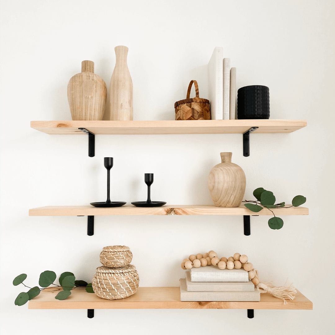 Stock 5 styled shelves