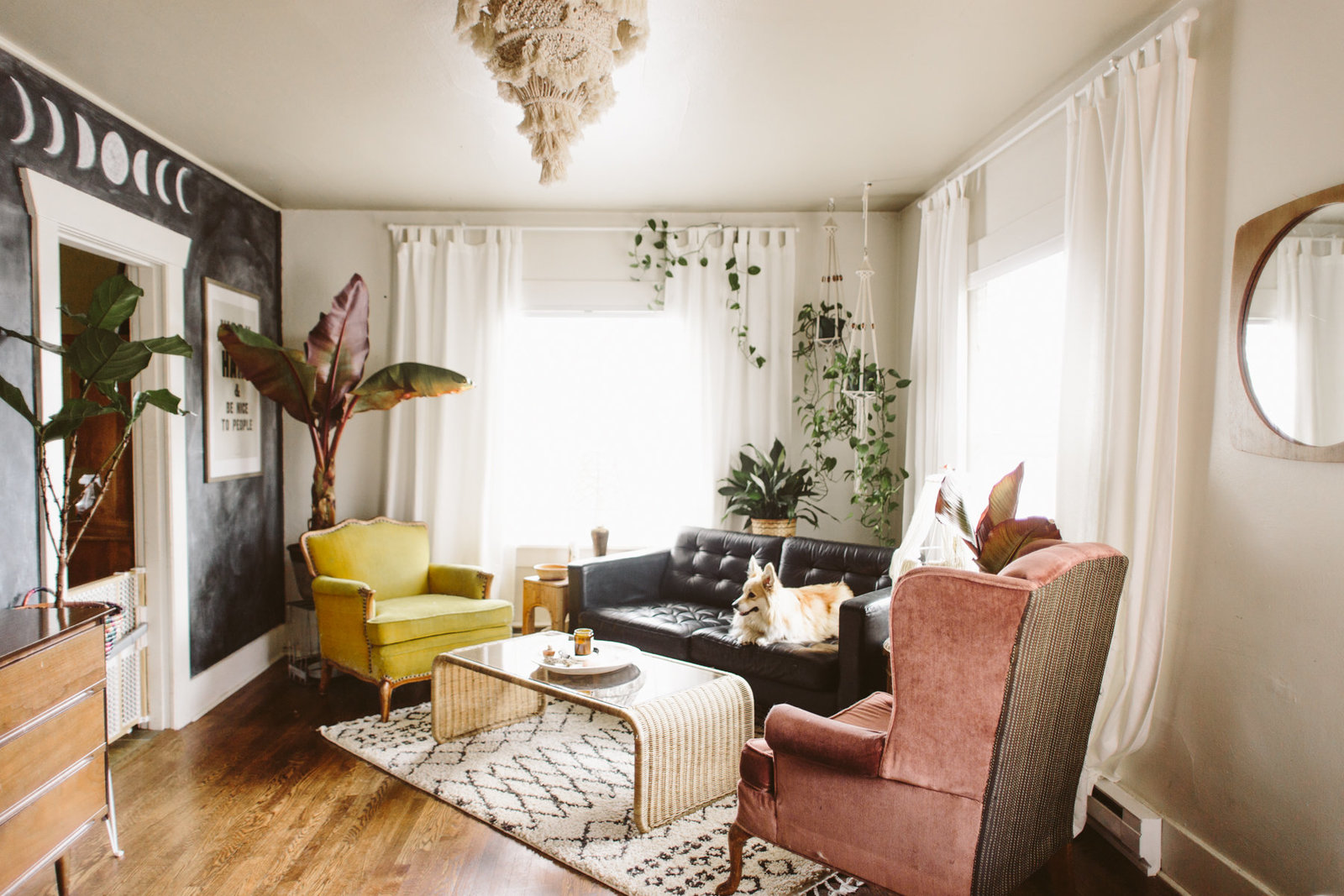 Boho Eclectic Living Room-12