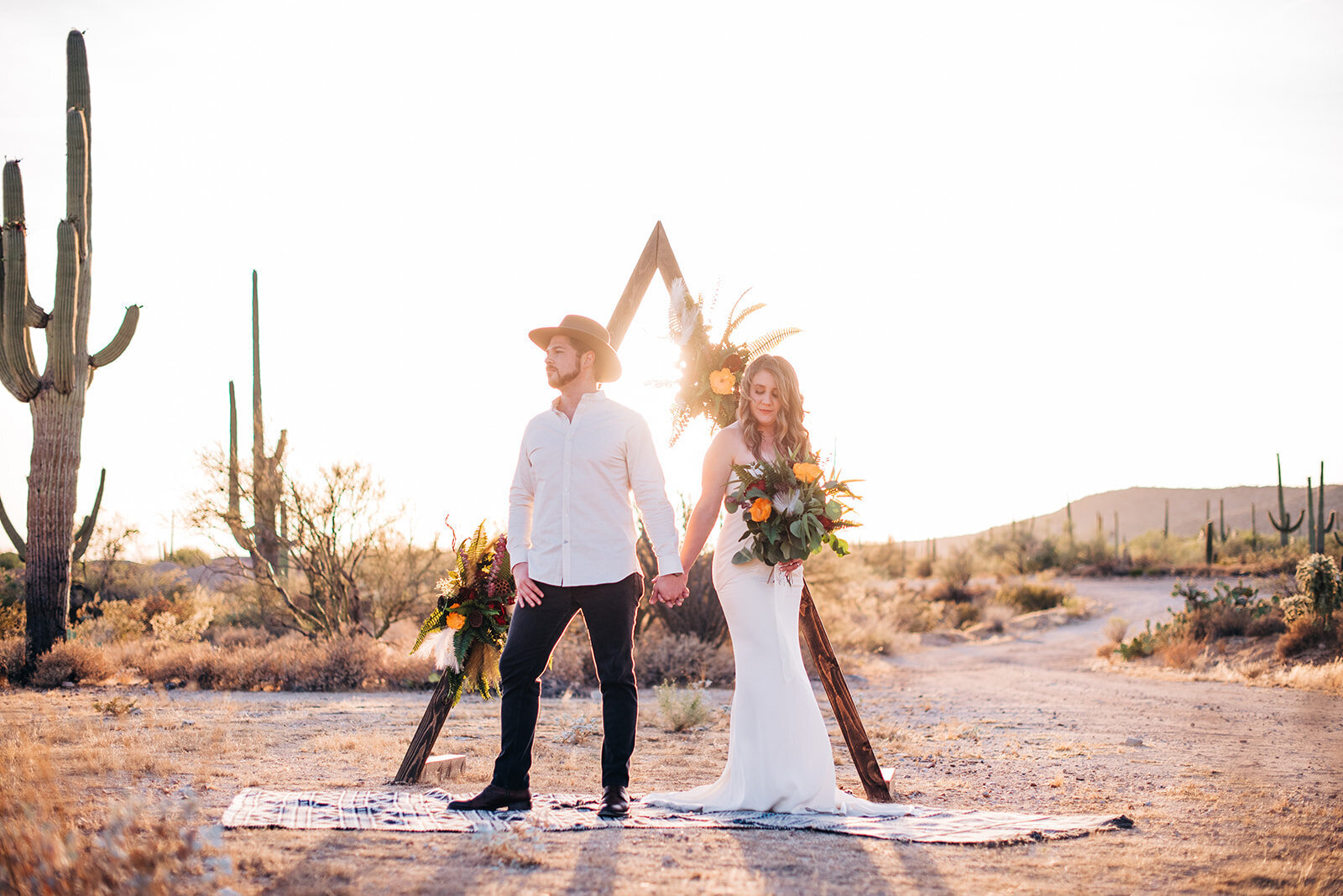 Tucson, Arizona Bride and Groom, Desert Wedding