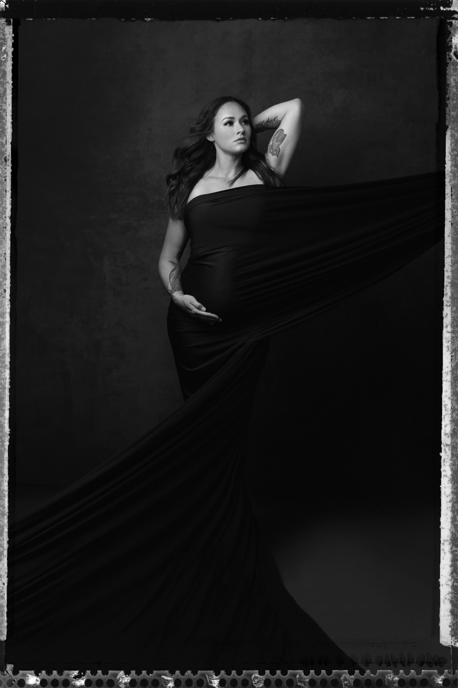 Felicia Reed Photography, Pregnancy Photoshoot, Maternity, Black and White