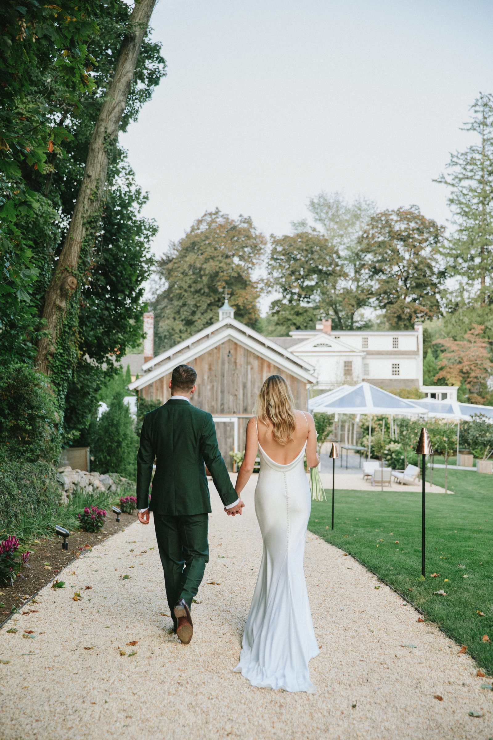 Outdoor Ceremony_Home Tented Wedding_Boho Wedding_Darien_Connecticut_12