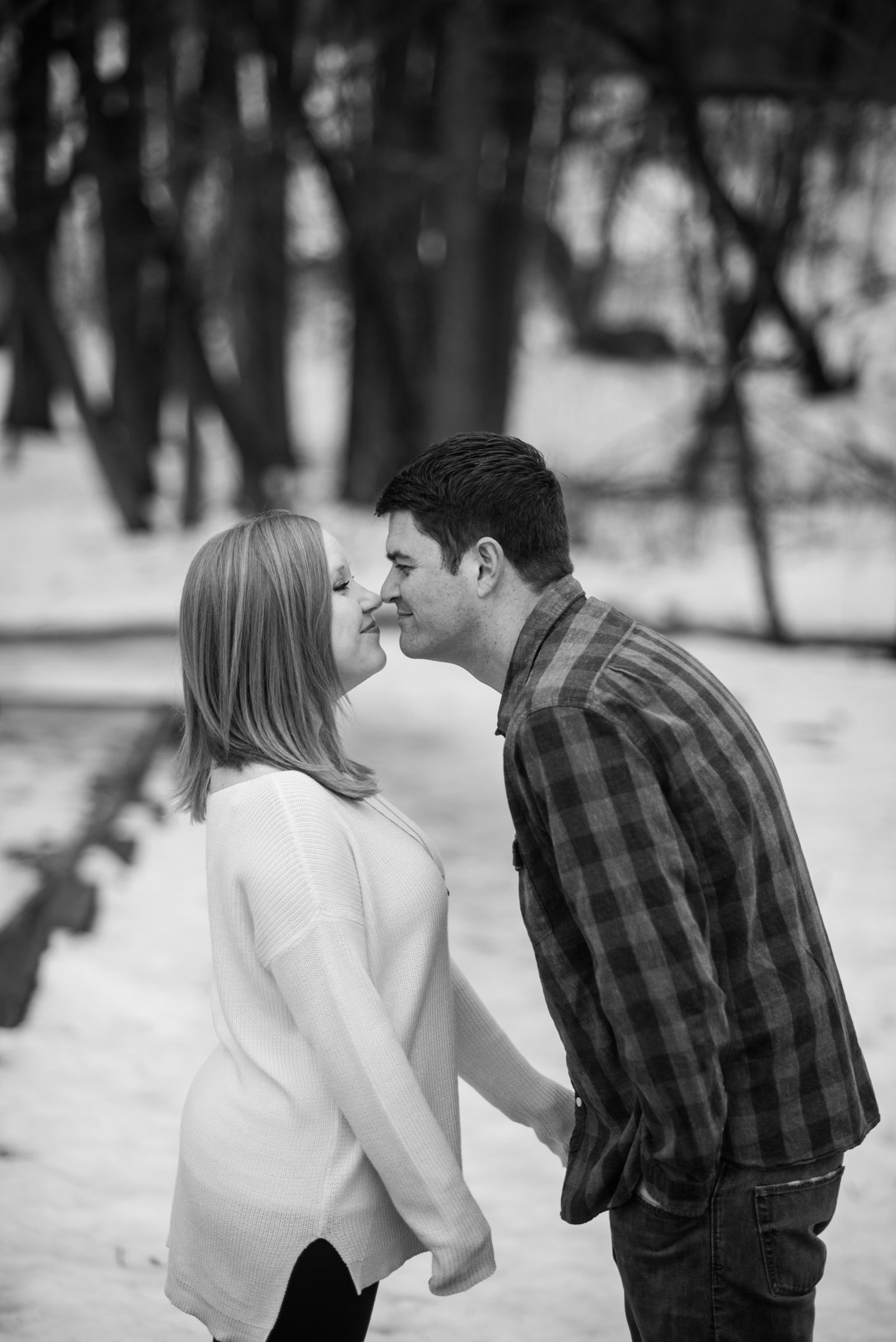 Minnesota Winter Engagement Photos 1239