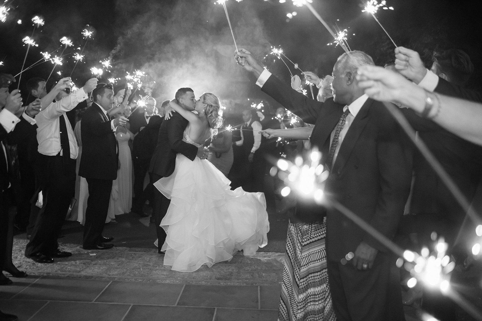 M Harris Studios_Trump National Golf Club Wedding_sparkler exit1