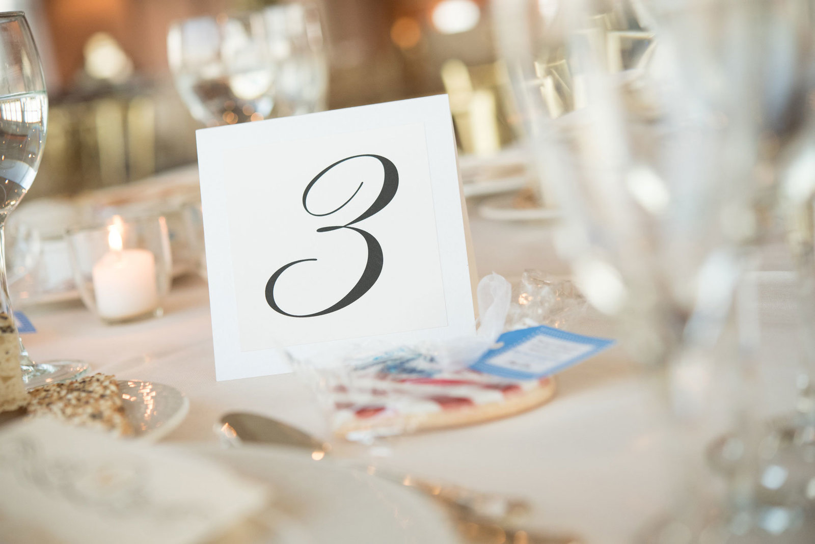table number at Glen Island Harbor Club