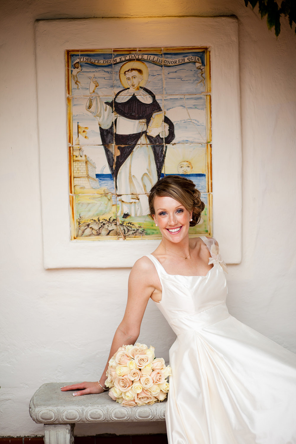 bride smiling at darlington house