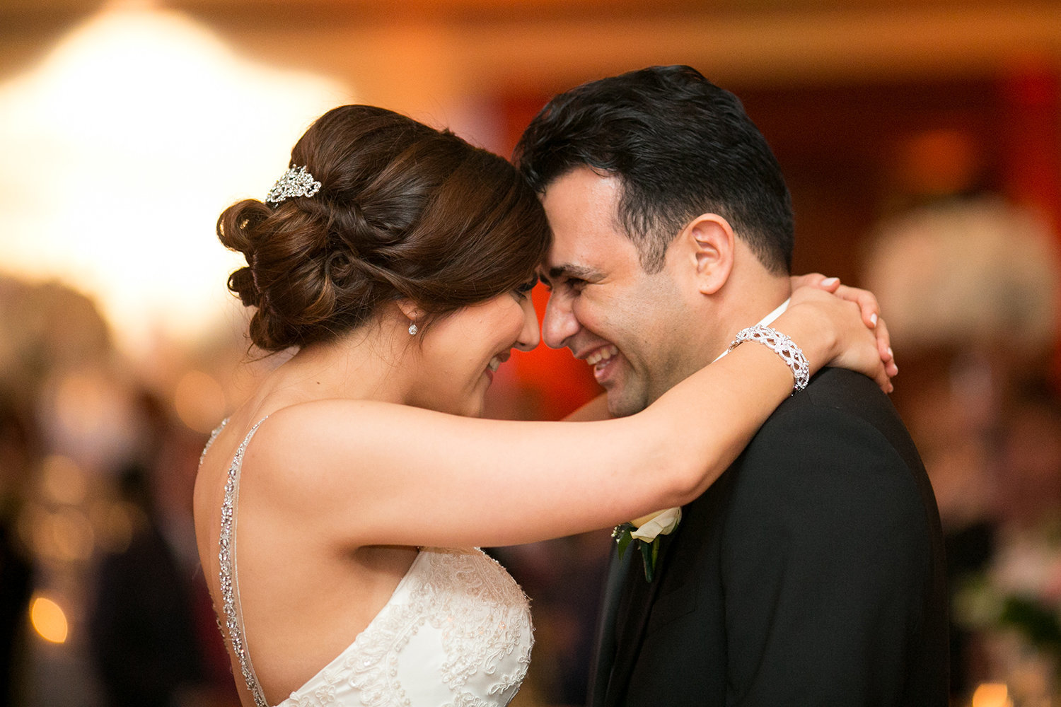 happy moment during the first dance\