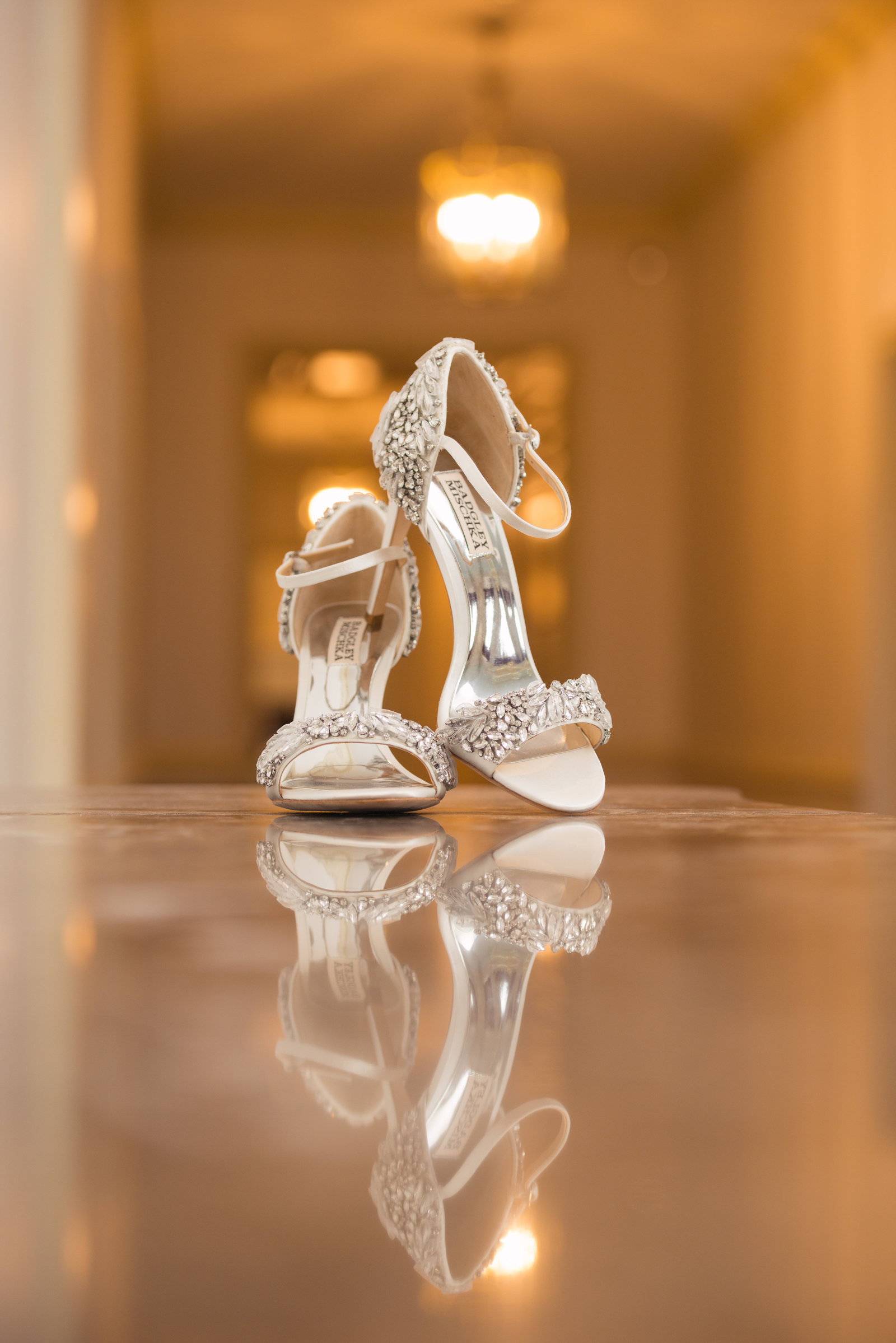 Bridal shoes at Glen Cove Mansion