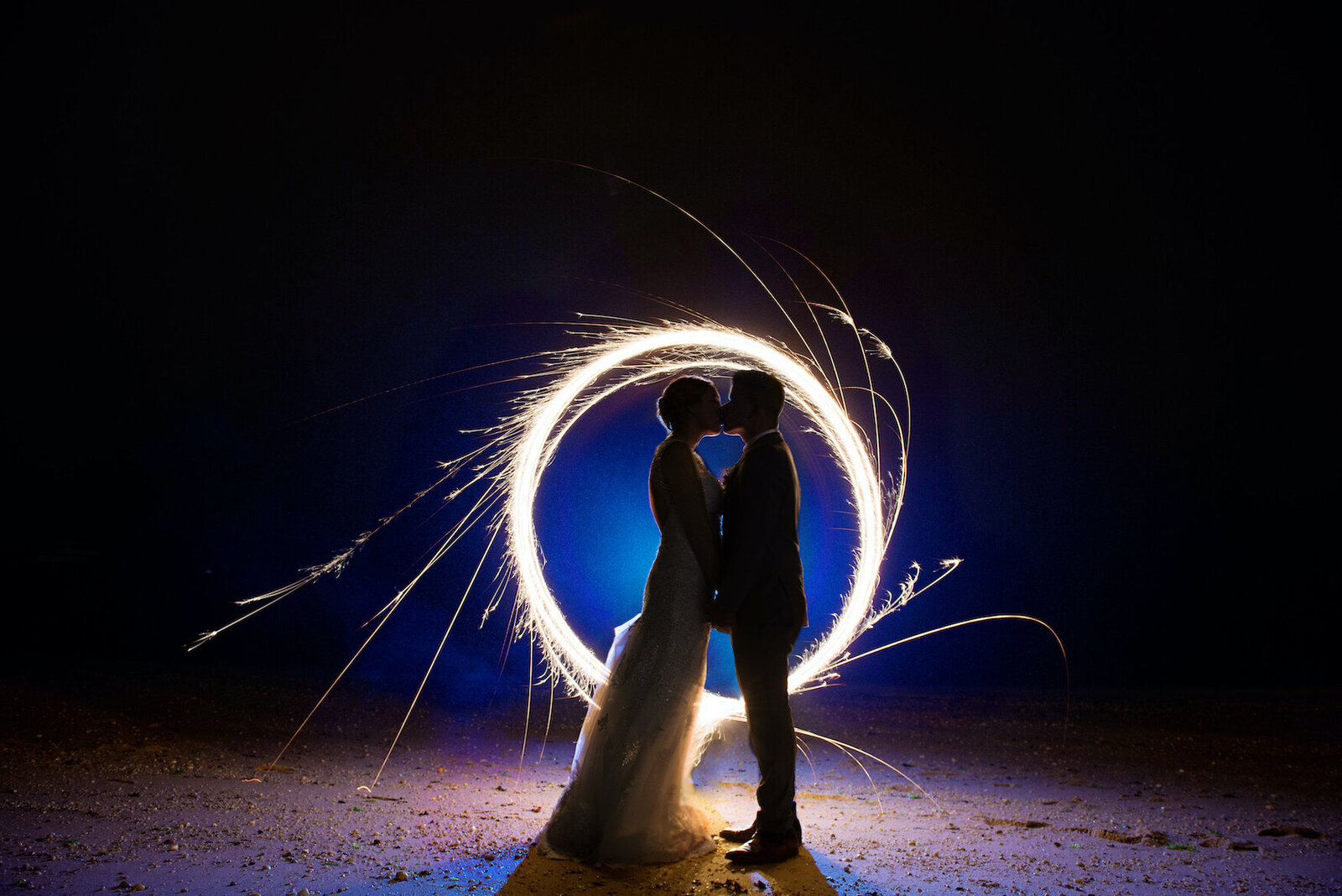 crescent-beach-club-beach-wedding-sparkler-photo