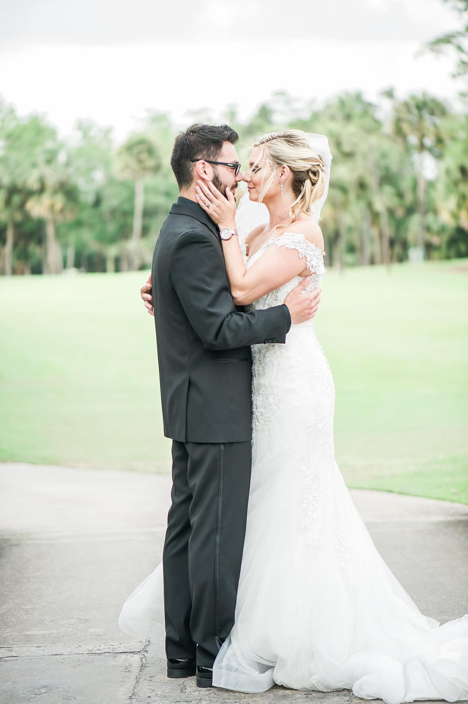 Kissing Bride and Groom - Myacoo Country Club Wedding - Palm Beach Wedding Photography by Palm Beach Photography, Inc.