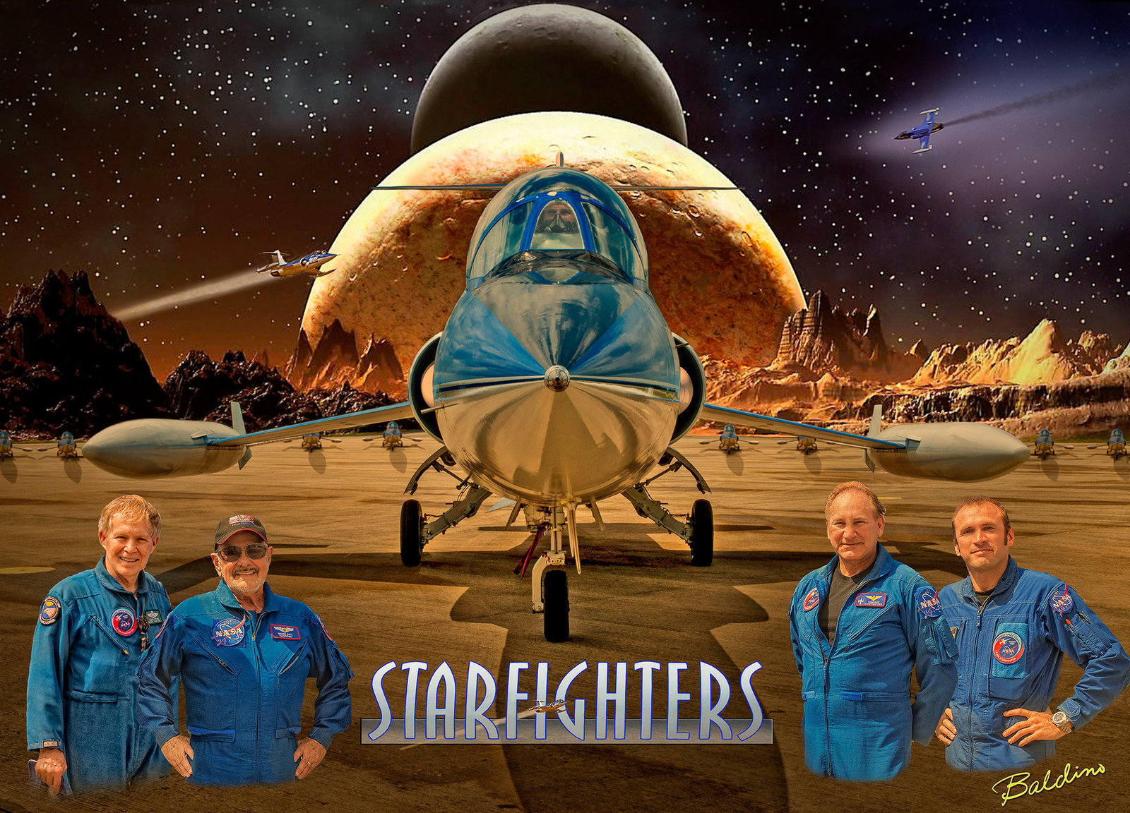 starfighter with men and logo 25x18 - Copy