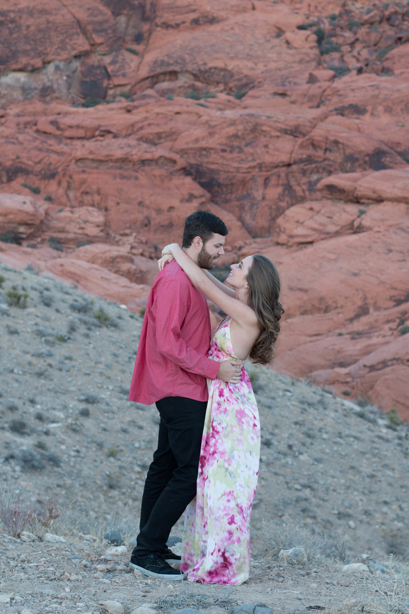 red rock canyon engagement in las vegas