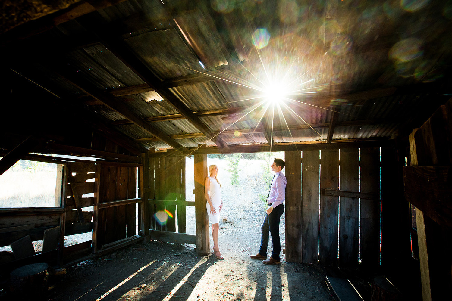 Daley Ranch engagement photos rustic barn