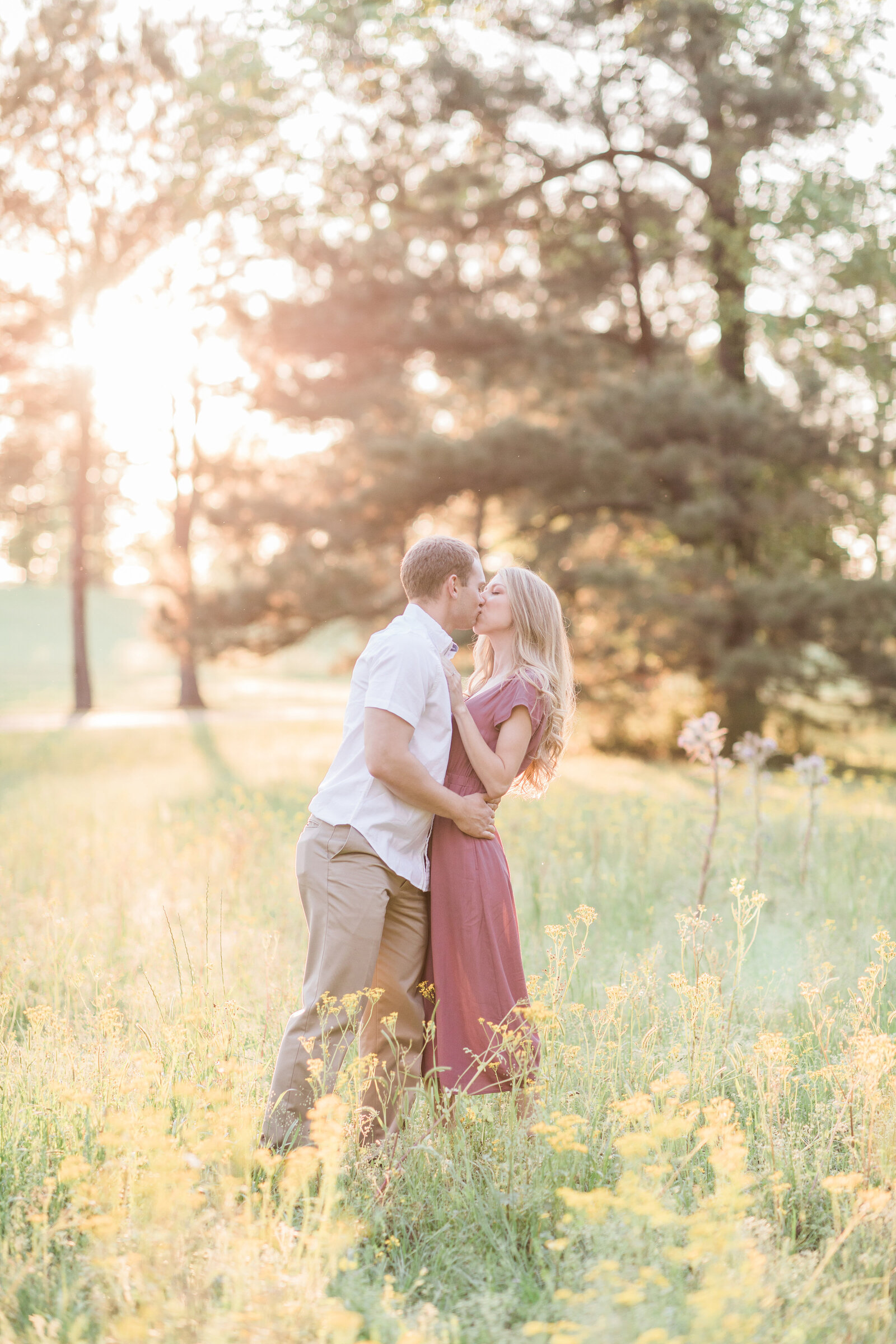 Sunlit Engaged Couple in East Texas