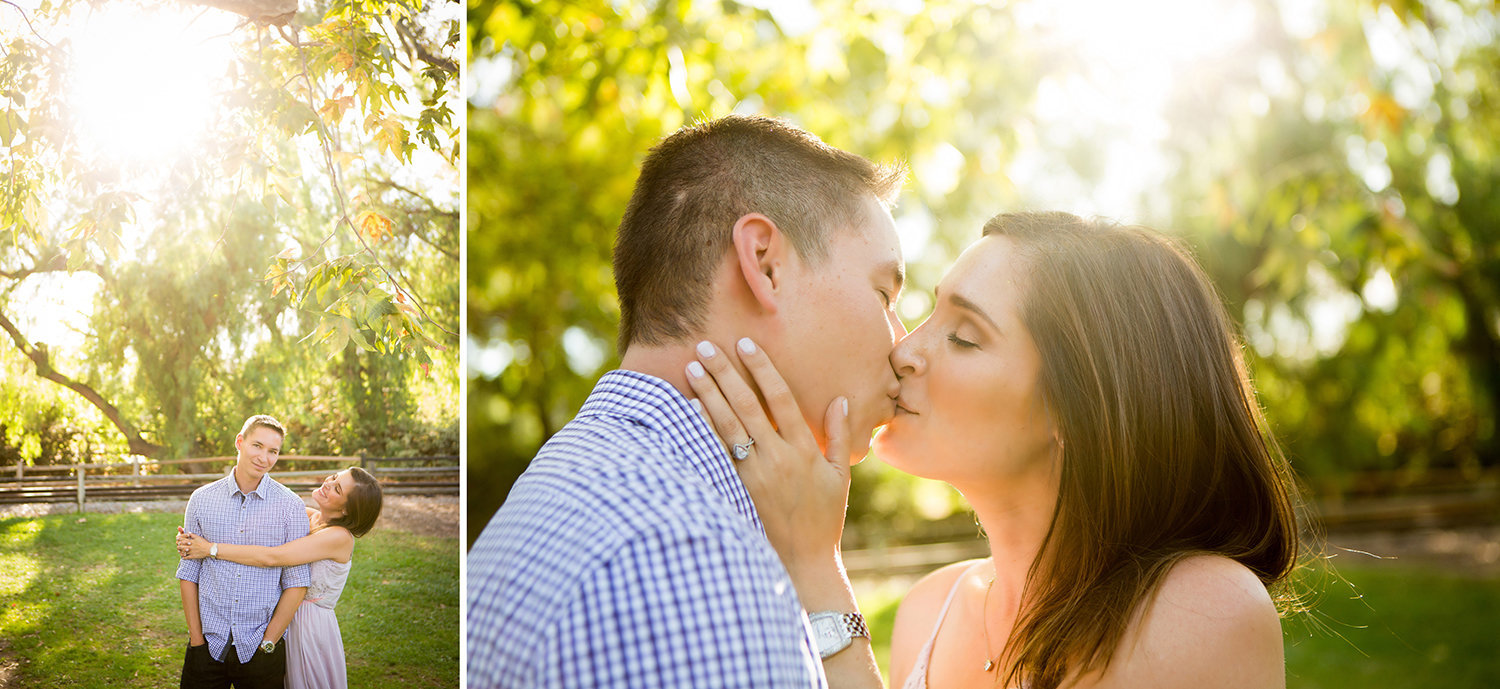 Old Poway Park engagement photos romantic