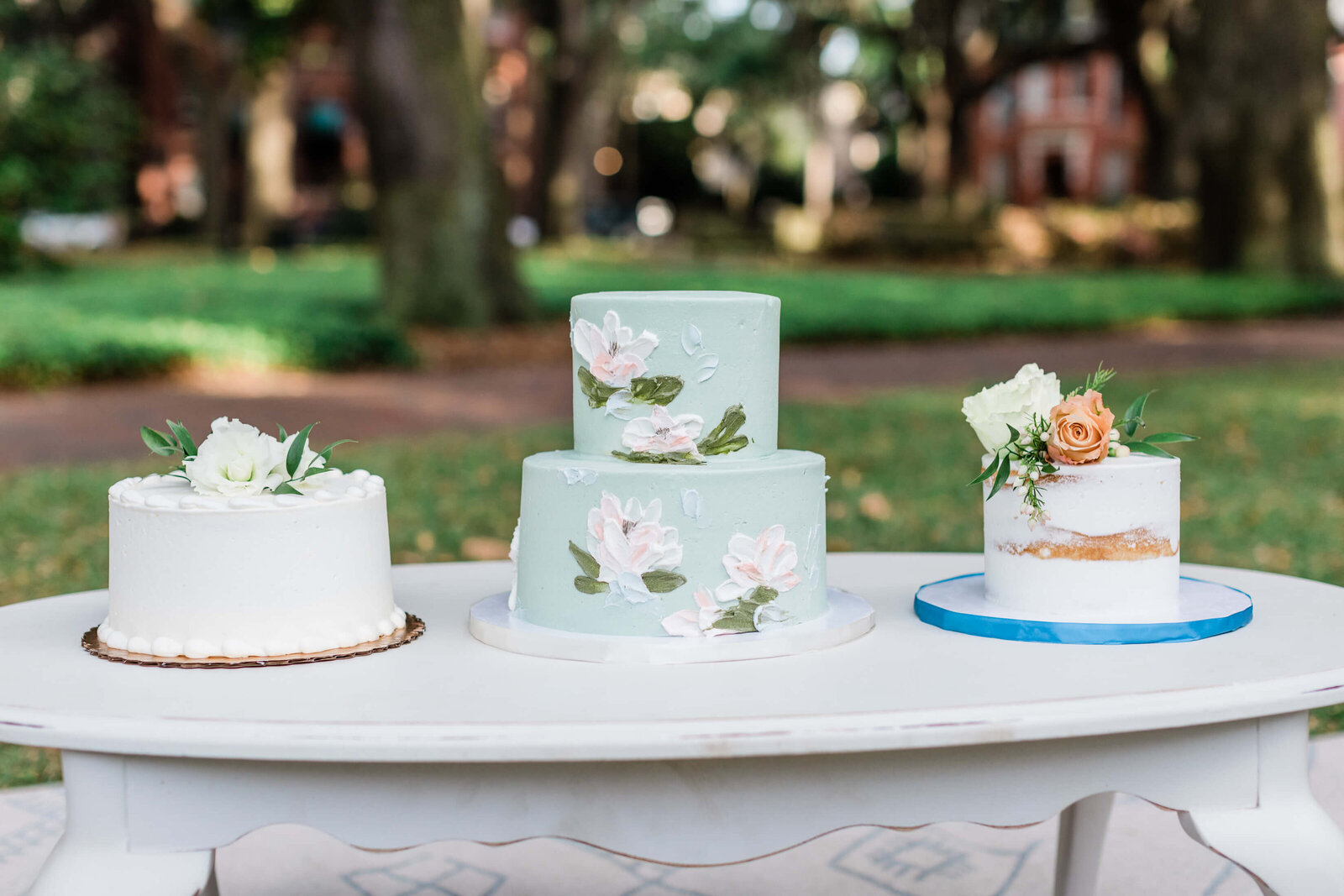 Cake by Wicked Cakes - Savannah Elopement Package